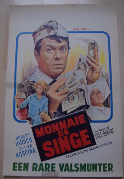 Monkey Money, Original Belgian Film Poster, Robert Hirsch, Sylvia Koscina, '66